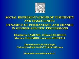 Social Psychology and Gender