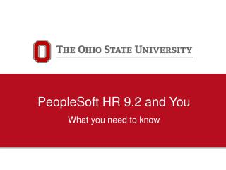 PeopleSoft HR 9.2 and You