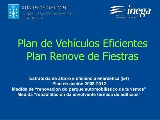 Plan de Vehículos Eficientes Plan Renove de Fiestras
