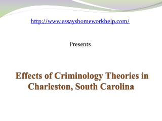 Sample essay: Effects of Criminology Theories in S. Carolina