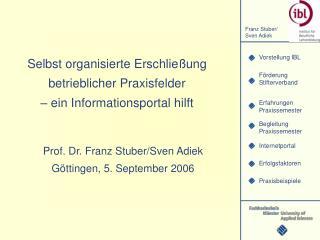 Selbst organisierte Erschließung betrieblicher Praxisfelder  – ein Informationsportal hilft