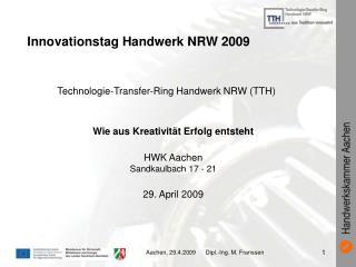 Innovationstag Handwerk NRW 2009