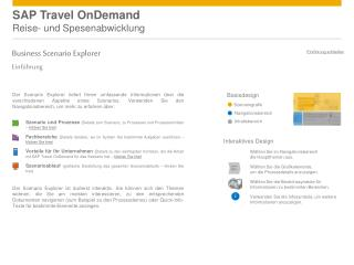 SAP Travel OnDemand Reise- und Spesenabwicklung