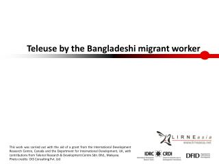 Teleuse by the Bangladeshi migrant worker