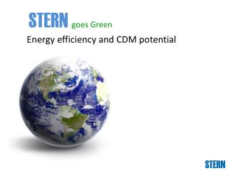 Energy efficiency and CDM potential