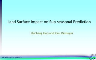 Land Surface Impact on Sub-seasonal Prediction