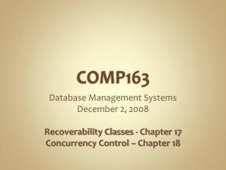 COMP163