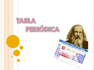 TABLA    PERI�DICA