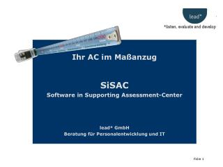 Ihr AC im Maßanzug SiSAC Software in Supporting Assessment-Center lead* GmbH