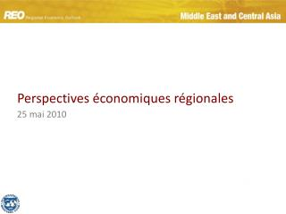 Perspectives  conomiques r gionales