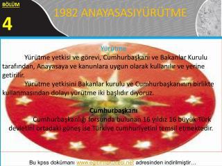 1982 ANAYASASIYÜRÜTME