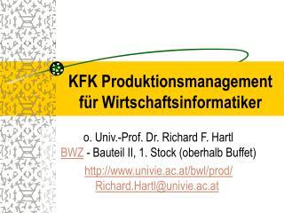 KFK Produktionsmanagement für Wirtschaftsinformatiker