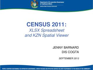 CENSUS 2011: XLSX Spreadsheet  and KZN Spatial Viewer