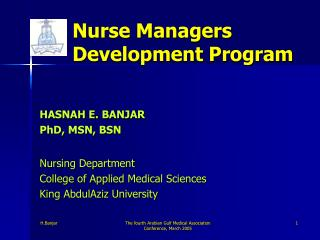 Nurse Managers Development Program