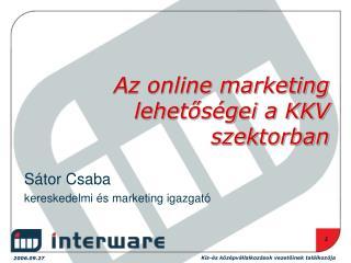 Az online marketing lehetőségei a KKV szektorban