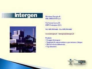 Divisione Energia di  IML IMPIANTI S.r.l. Via  Garçia Lorca  25 23871  Lomagna  (LC)