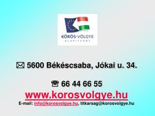 Körös-Völgye  Alapítvány