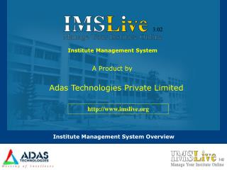 Institute Management System Overview