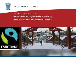 Trondheim  Fairtradekommune Nettverksmøte   for  ungdomsskoler   –  Grønt  Flagg