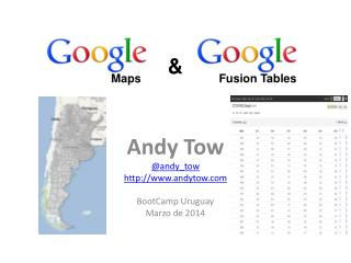 Andy  Tow @ andy_tow andytow BootCamp  Uruguay Marzo  de 2014