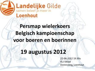 Persmap wielerkoers Belgisch kampioenschap voor boeren en boerinnen