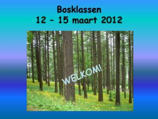 Bosklassen  12 – 15 maart 2012