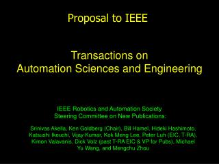 Proposal to IEEE