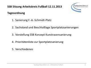 SSB Sitzung Arbeitskreis Fußball 12.11.2013