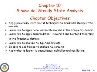 Chapter 10 Sinusoidal Steady State Analysis