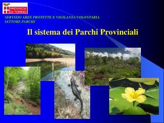 Il sistema dei Parchi Provinciali
