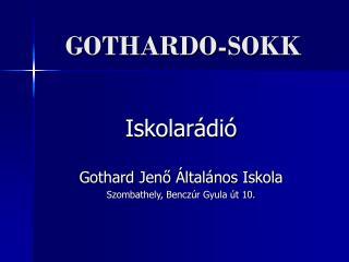GOTHARDO-SOKK