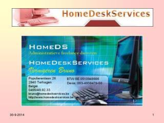 Wie is HomeDS? Welke taken doen wij voor bedrijven? Welke taken doen wij voor particulieren?