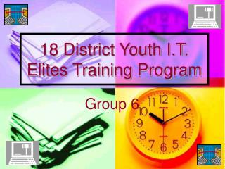 18 District Youth I.T. Elites Training Program