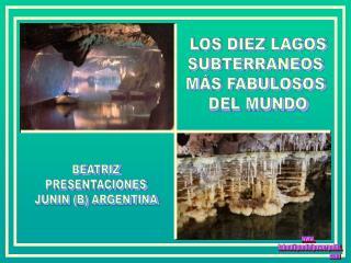 LOS DIEZ LAGOS SUBTERRANEOS  MÁS FABULOSOS  DEL MUNDO