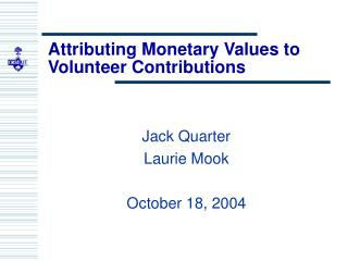 Attributing Monetary Values to Volunteer Contributions