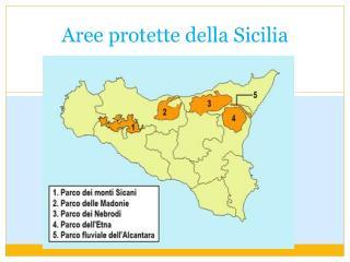 Aree protette della  S icilia