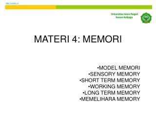 MATERI 4: MEMORI