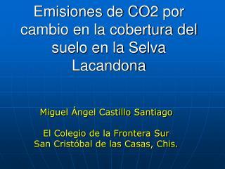 Emisiones de CO2 por cambio en la cobertura del suelo en la Selva Lacandona