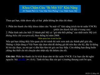 Khoa Ch�m C?u �B? M?t V?� Kh� N?ng 20 Th�nh Ph? C� �Gi� Nh� Th?i Ph?ng� Cao Nh?t N??c M?