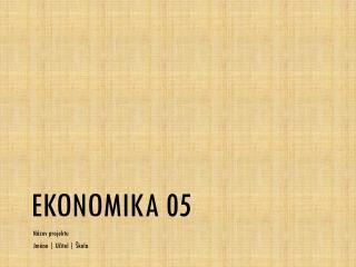 Ekonomika 05
