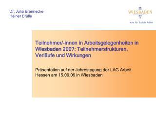 Präsentation auf der Jahrestagung der LAG Arbeit Hessen am 15.09.09 in Wiesbaden