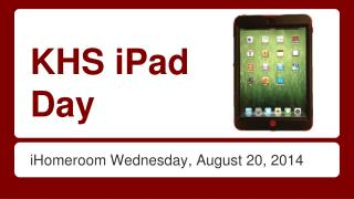 KHS iPad Day