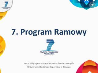 7. Program Ramowy
