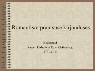 Romantism prantsuse kirjanduses