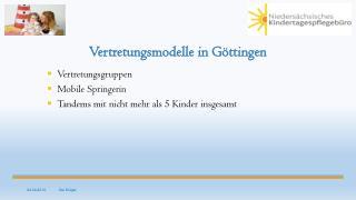 Vertretungsmodelle in Göttingen