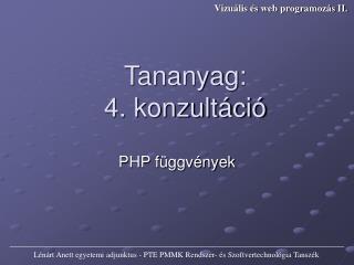 PHP függvények