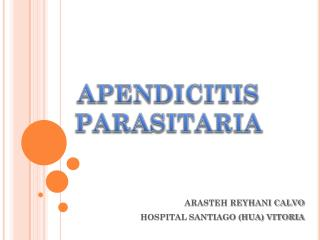 APENDICITIS PARASITARIA