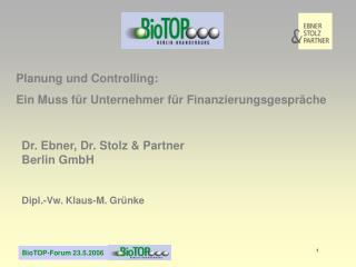 Planung und Controlling: Ein Muss für Unternehmer für Finanzierungsgespräche