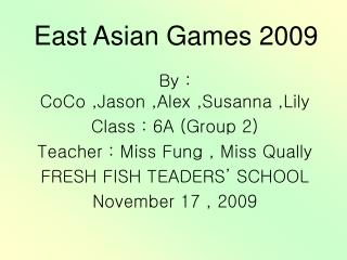 East Asian Games 2009