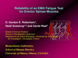 Reliability of an EMG Fatigue Test for Erector Spinae Muscles